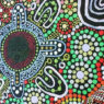 A close up of the Indigenous guernsey design to be worn by the Western Magic this weekend.