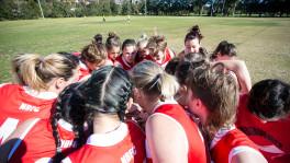 AFL NSW/ACT: Womens Premier League; Newtown Breakaways vs Macquarie University Warriors. August 5, 2017. Mahoney Park, Marrickville, NSW, Australia. Photo: Narelle Spangher, AFL NSW/ACT